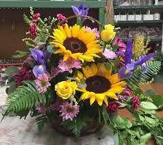 Peterman's Flower Shop. A beautiful spring, summer arrangement.
