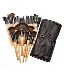 house of quirk 32pcs professional soft cosmetic makeup brush set pouch bag