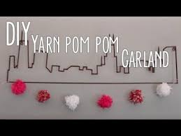 Image result for valentine yarn pom pom garland