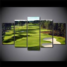 5 panels golf course modern abstract canvas oil painting print wall art decor for living room home decoration framed unframed on golf wall art canada with golf art oil canada best selling golf art oil from top sellers