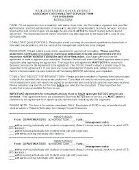 Business Consultant Contract Agreement Template Sample Consulting