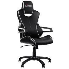 e200 race gaming chair black white