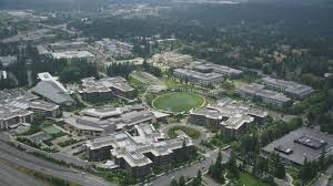 microsoft office in redmond. Orbit Of The Commons, Soccer Field, And Office Buildings At Microsoft Headquarters, Redmond, Washington Aerial Stock Footage AX46_035 In Redmond