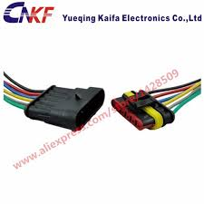 online buy whole automotive wiring harness connectors from 10 sets tyco amp 6 pin automotive connector waterproof car wiring harness kit automotive wiring