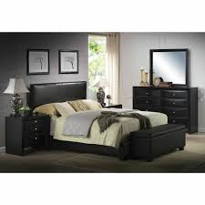 details about platform king size bed black leather headboard bedroom furniture make an offer