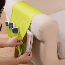 sofa arm rest tv remote control organizer holder 4 pockets chair couch mobile phones magazine storage