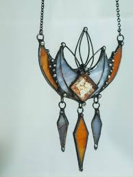 stained glass angel necklace