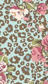 trendy light pink leopard print background round designs with animal print designs