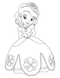 Sch N Coloriage Princesse Sofia Ecureuil Noisette Ideen