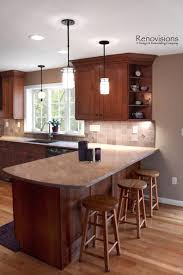Kitchen Remodel Beautiful White Kitchen Cabinets Brown Island
