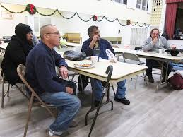 quiet new years at warming shelter