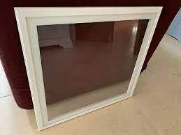 ikea besta vegby black and glass door