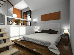 amazing white wood furniture sets modern design: cool bedroom in sunken room with low wooden platform bed and white walls