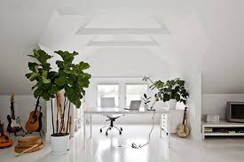 feng shui home office attic. Awesome 37 Stylish Attic Home Office Design Ideas : Clean Simple White Feng Shui M