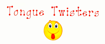 Image result for tongue twisters