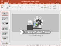 Animated Ppt Presentation Animated Factory Production Powerpoint Template