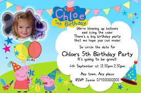for peppa pig custom invitations