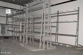 a frame used industrial shelving racks to get a e