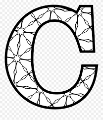 One of such methods are coloring pages with english letters and alphabet. Letters Coloring Pages Letter C To Colour Clipart 487026 Pinclipart