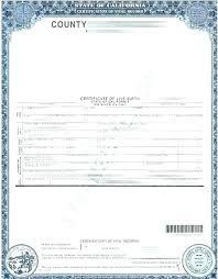 A Blank Birth Certificate Aoteamedia Com