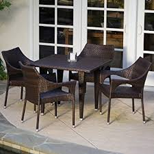 outdoor wicker dining room chairs. del mar patio furniture ~ 5-piece outdoor wicker dining set with stacking room chairs n