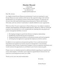 Gallery Of Human Resources Cover Letter Examples Human Resources