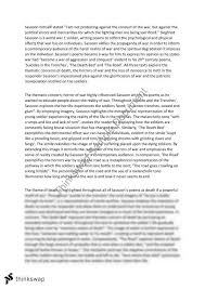 essay poems siegfried sassoon poetry essay year 11 hsc english