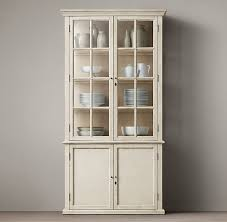 h ton casement double door panel sideboard glass hutch antique white china cabinet