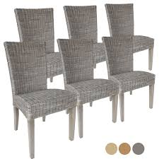 Esszimmer Stühle Rattanstühle Set Cardine 6 Stück Mitohne Sitzkissen