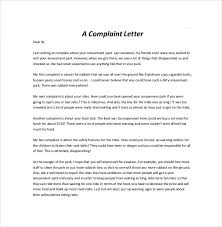 Free Formal Letter Template Complaint Letter