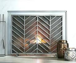 diy fireplace screen chevron fireplace screen wood gorgeous screens for every home birch log fireplace screen