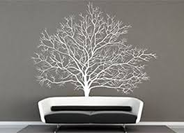 Large Winter Tree Wall Decals White Winter Tree Decals for Living Room Wall  Decor