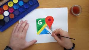 how to draw the google maps logo  youtube