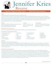 Yoga Instructor Resume Resume Templates