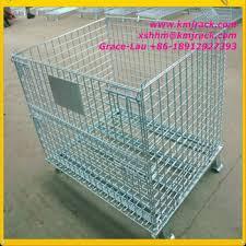 metal storage crates. Fine Storage Heavy Duty Collapsible Metal Storage Crate For Crates L