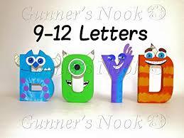 gunner s nook monsters inc character letter art monsters inc nursery wall letters on wall art letters for nursery with amazon gunner s nook monsters inc character letter art