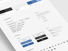 Style Template Free Ui Style Guide Template For Photoshop Psddd Co