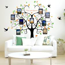 large family tree wall decal l stick pvc sheet diy photo gallery frame decor wall sticker