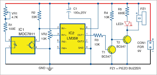 optical smoke alarm full circuit diagram explanation circuit diagram of the optical smoke alarm