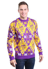 Minnesota Vikings Light Up Sweater Minnesota Vikings Candy Cane Ugly Christmas Sweater