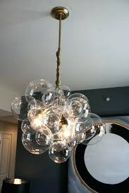 bubble lighting chandeliers floating glass chandelier by on exposed ceiling bubble lighting chandeliers gray glass