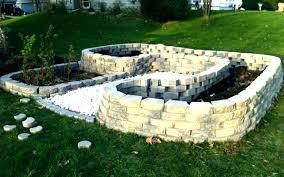 garden blocks. Concrete Block Garden Landscaping With Cinder Blocks Landscape Contemporary Homemade Outdoor E