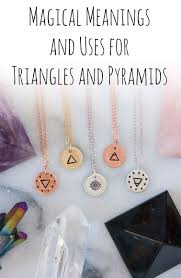triangle and pyramid jewelry