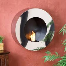 round wall mounted gel fuel fireplace