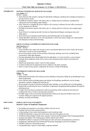 Conference Services Manager Sample Resume Conference Services Manager Resume Samples Velvet Jobs 2