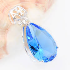 natural blue iolite gem pendant s925 silver natural gemstone pendant necklace trendy luxury flower butterfly women party jewelry