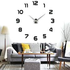 large office wall clocks. office wall clock with date clocks different time zones diy modern 3d mirror sticker large l