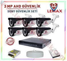 6 Kameralı 3 MP 1080P AHD Güvenlik Kamerası Sistemleri - Lemax Güvenlik