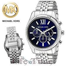 michael kors mens watch new mens michael kors mk8280 lexington stainless steel silver chronograph watch