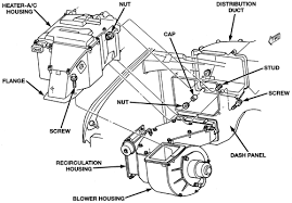 repair guides heater core removal & installation autozone com 99 Dodge Ram 1500 Wiring Harness For Door exploded view of the heater air conditioning housing and related components 1999 01 dodge ram van wagon shown, others similar 2004 Dodge Ram 1500 Wiring Diagram